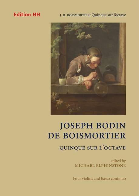 Quinque-sur-l-039-octave-Boismortier-Joseph-Bodin-de-score-and-parts-4-violins-an
